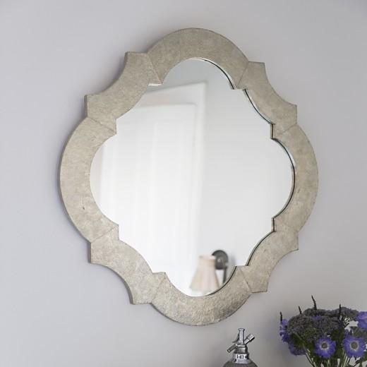 Lotus White Metal Wall Mirror - ETA end Feb