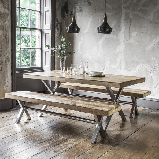 Logan Dining Table in Natural Finish