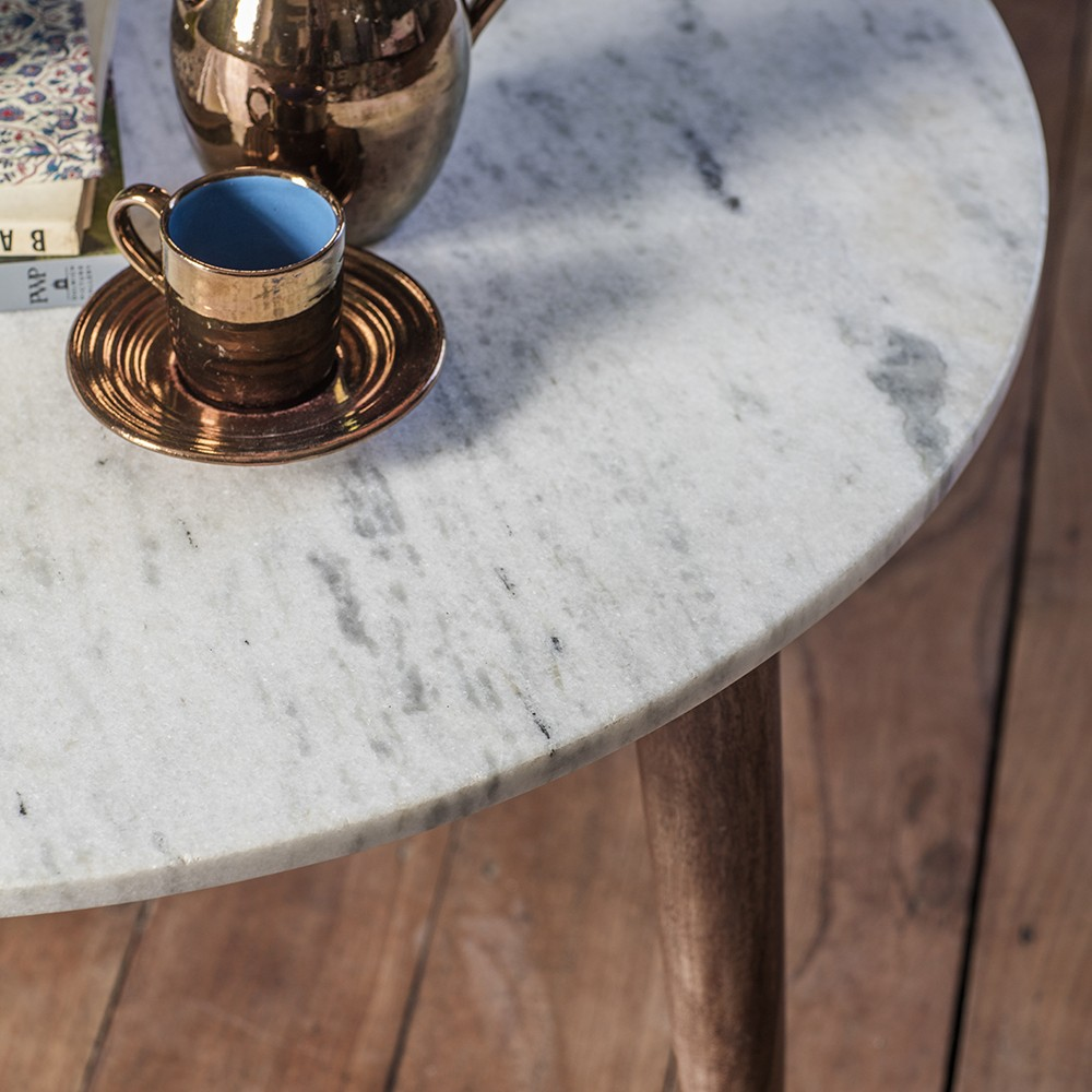 Deco White Marble Coffee Table
