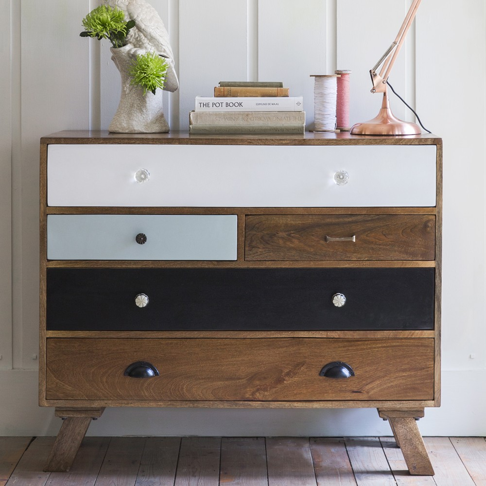 Milligan Retro Five Drawer Chest
