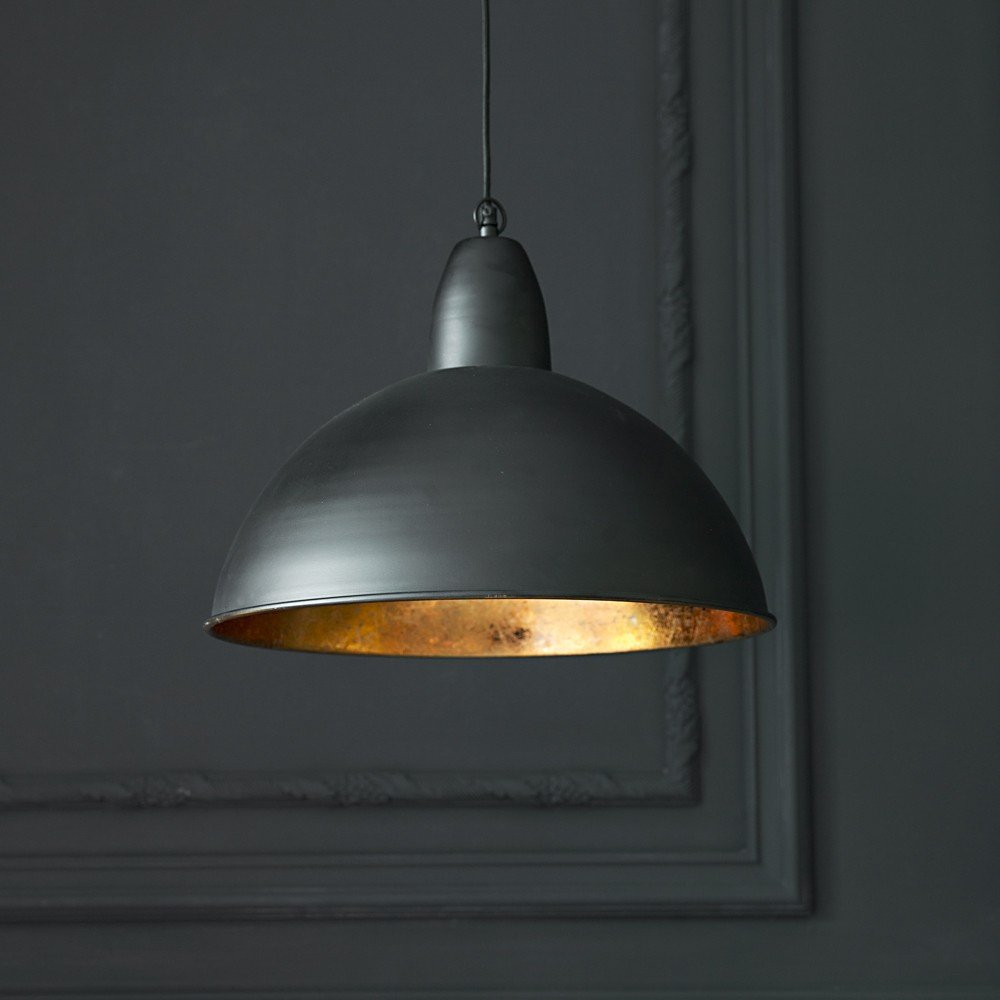 Contemporary ceiling pendant light in black and gold Modern pendant lighting