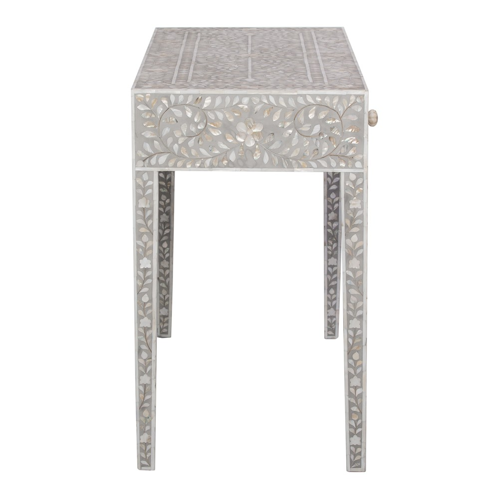 Classic mother of pearl dressing table in steeple grey classic mother of pearl console table in grey geotapseo Image collections