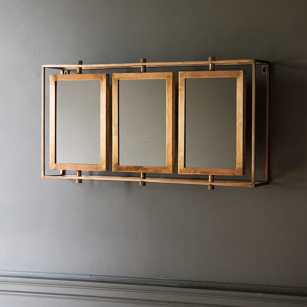 Tribeca Triple Wall Mirror Antique Copper