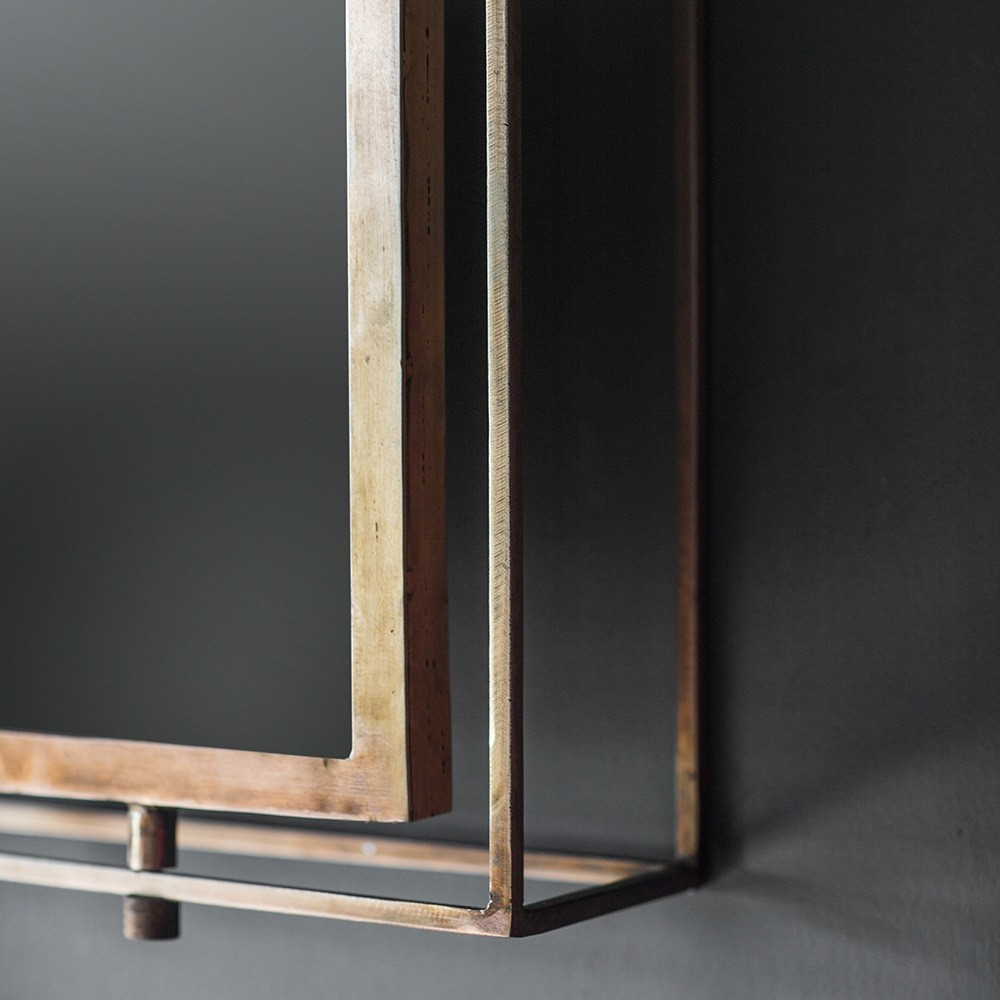 Tribeca Triple Wall Mirror Antique Copper