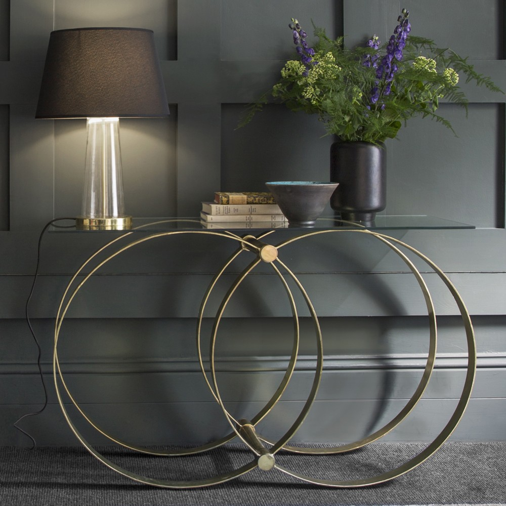 Etienne contemporary console table for Contemporary table