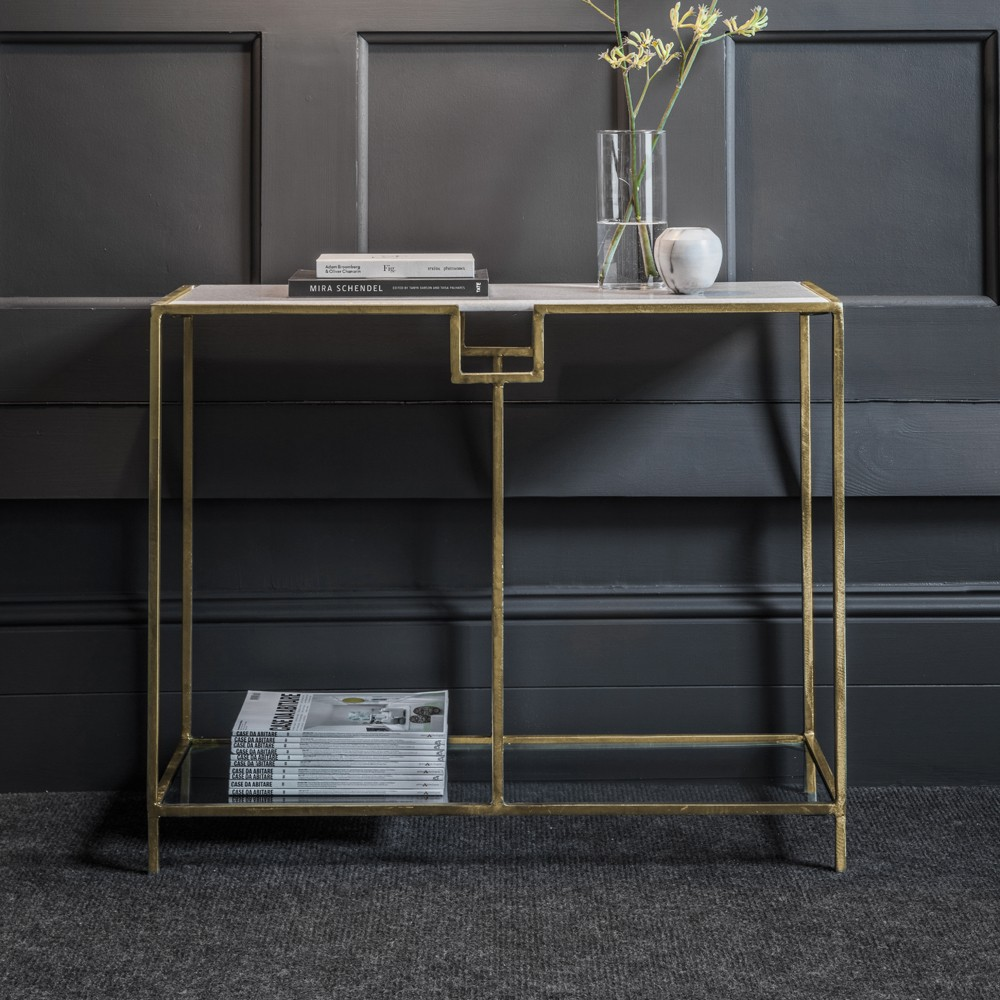 Gatsby Marble Top Console Table