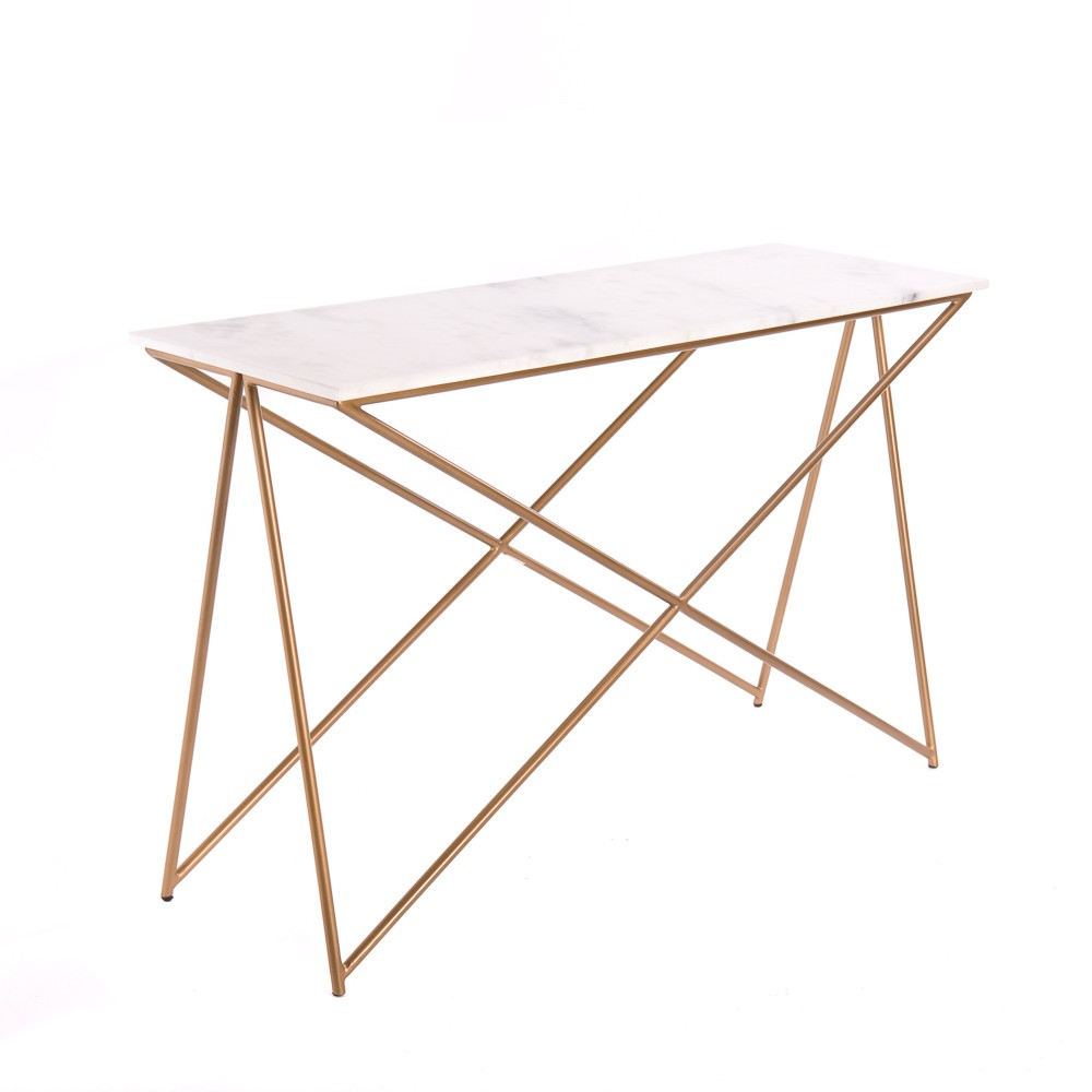 White marble console table stellar white marble console table geotapseo Choice Image
