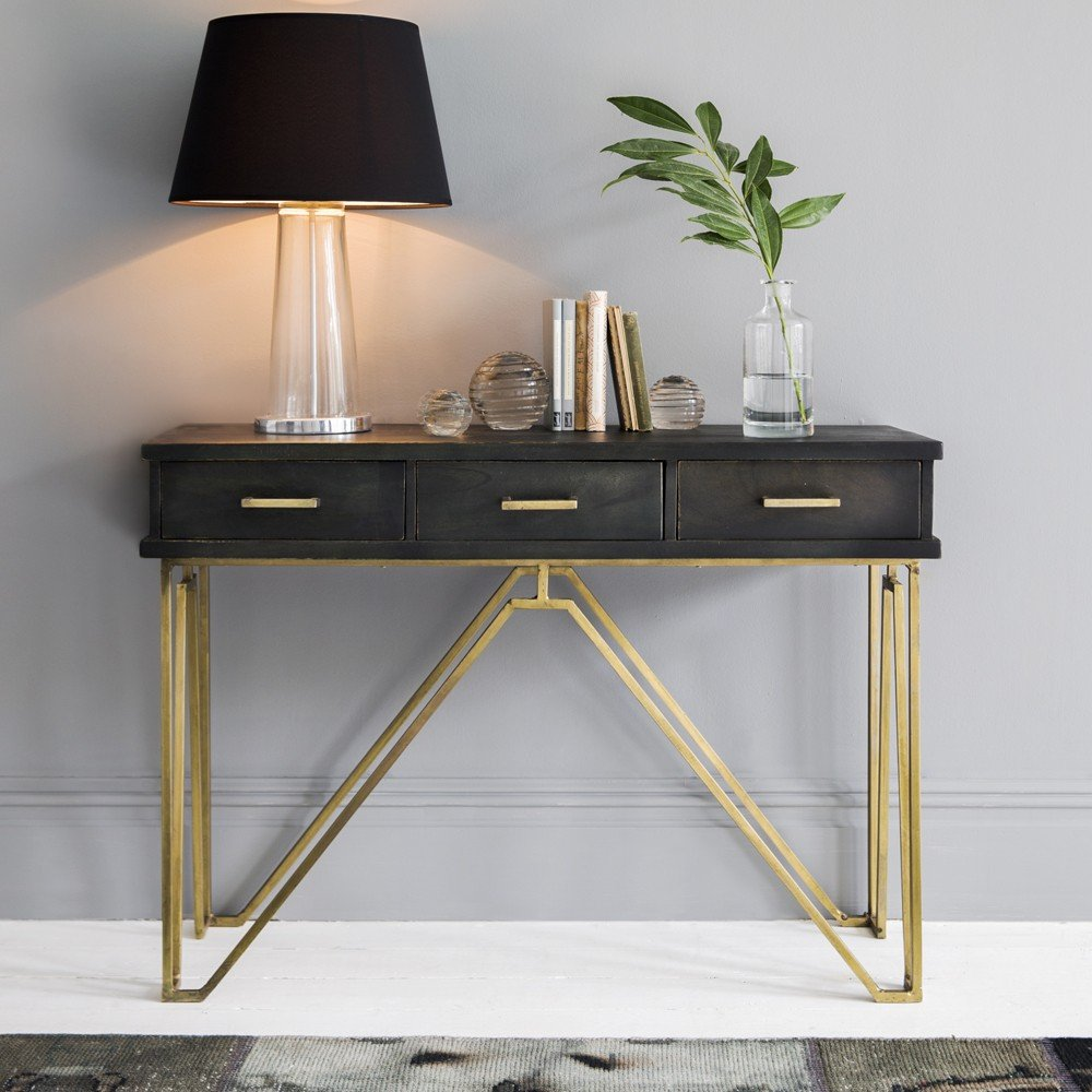 table console a rallonge maison design. Black Bedroom Furniture Sets. Home Design Ideas
