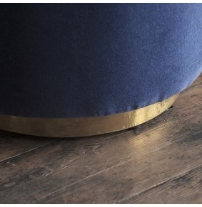 Carnaby Foot Stool in Blue Velvet - ETA end Jan