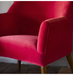 Astoria Armchair in Coral Velvet - ETA end Jan