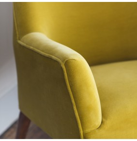 Astoria Armchair in Mustard Yellow Velvet - ETA end Jan