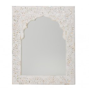 Kasbah Mother of Pearl Wall Mirror in White - ETA end Dec