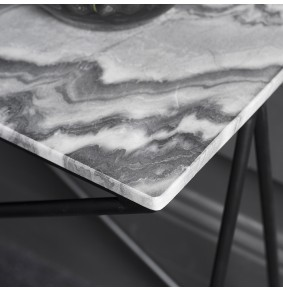 Stellar Grey Marble Side Table