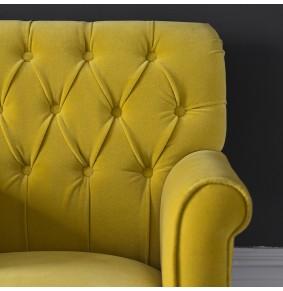 Pimlico Mustard Velvet Armchair