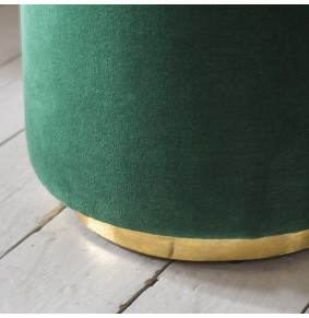 Carnaby Footstool in Emerald Green Velvet