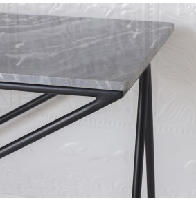 Stellar Grey Marble Console Table