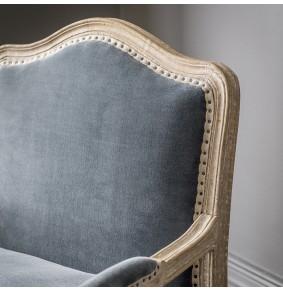 Céline Armchair in Grey Velvet