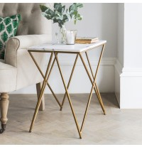 Stellar White Marble Side Table - ETA end Jan