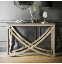 Lily Console Table with a Natural Marble Stone Top - ETA end July
