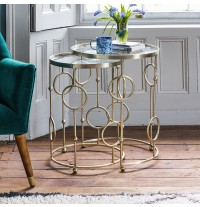 Chiswick Glass Top Nesting Side Tables