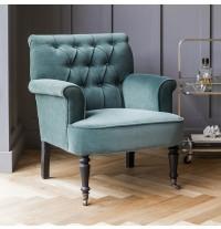 Pimlico Green Velvet Armchair