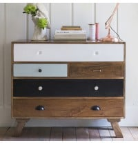 Milligan Retro 5 Drawer Chest - ETA end August