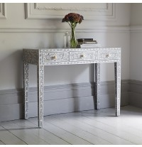 Classic Mother of Pearl Console Table in Grey