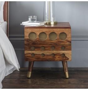 Monty Brass Inlay Bedside