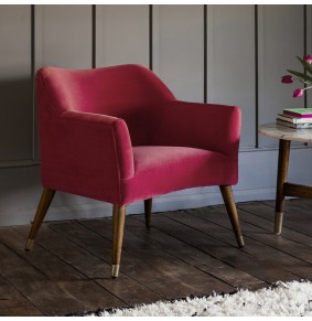 Astoria Armchair in Coral Velvet - ETA end Jan