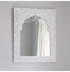 Kasbah Mother of Pearl Wall Mirror in White - ETA end Jan