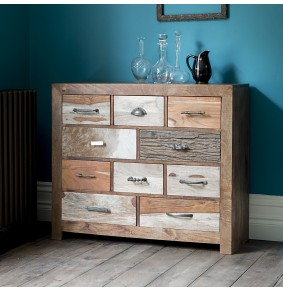 Montana Vintage Style 10 Drawer Chest