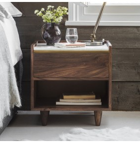 Deco Marble Bedside Table