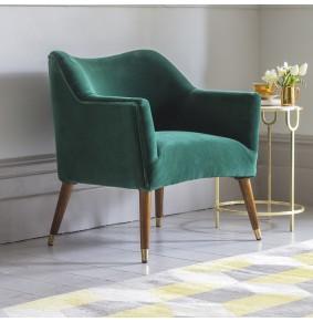 Astoria Armchair in Emerald Green Velvet