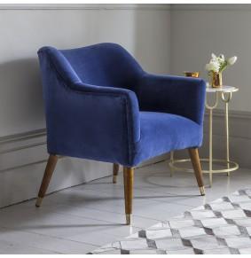 Astoria Armchair in Blue Velvet