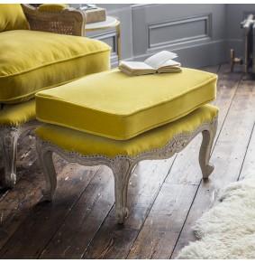 Amélie Footstool in Mustard Velvet