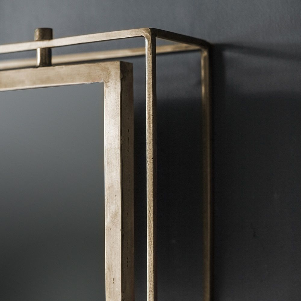Tribeca Triple Wall Mirror Antique Brass Atkin And Thyme