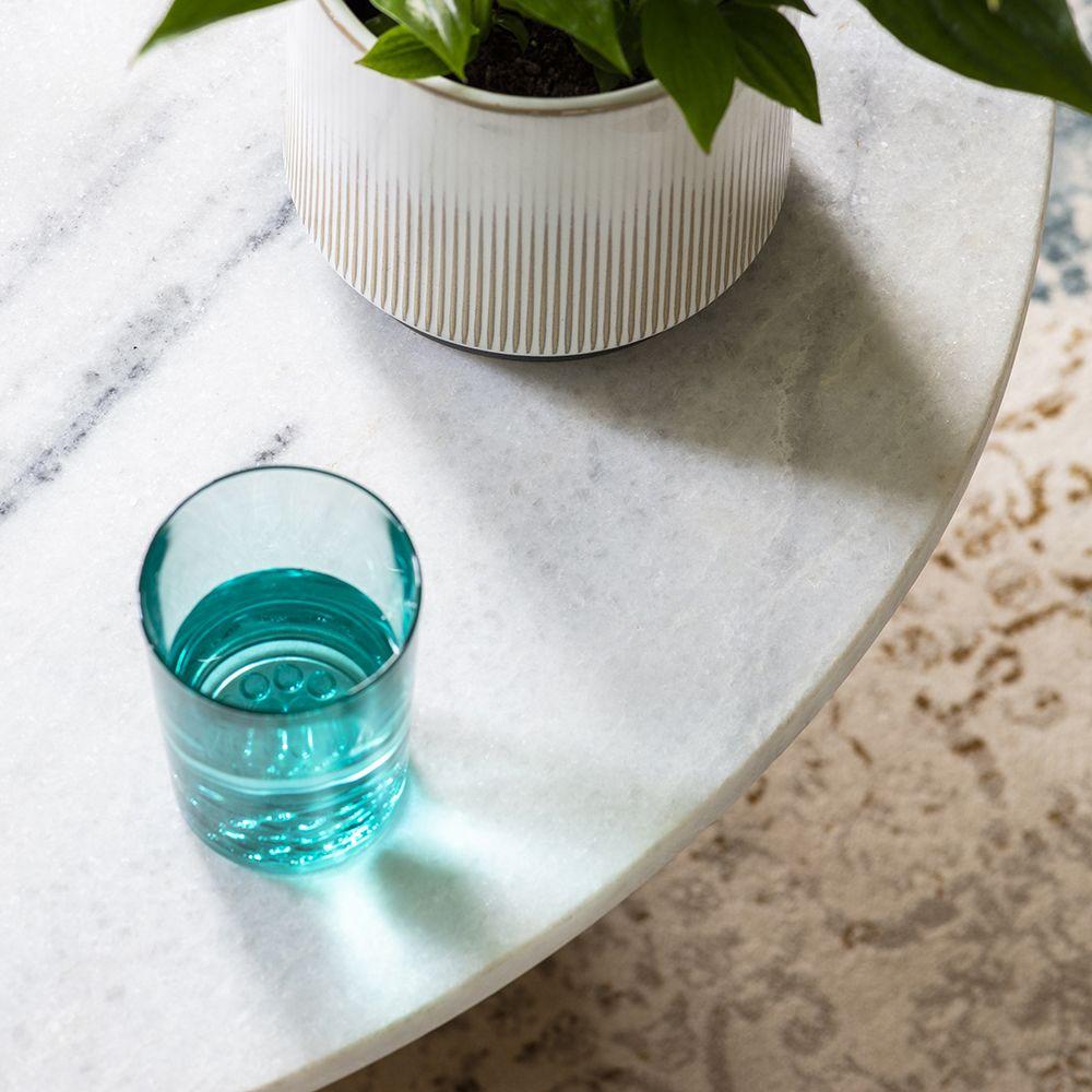 Stellar White Marble Coffee Table: Castello Marble Coffee Table
