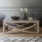 Lily Coffee Table with a Natural Marble Stone Top