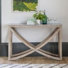 Lily Console Table with a Grey Marble Top