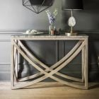 Lily Console Table with a Natural Marble Stone Top