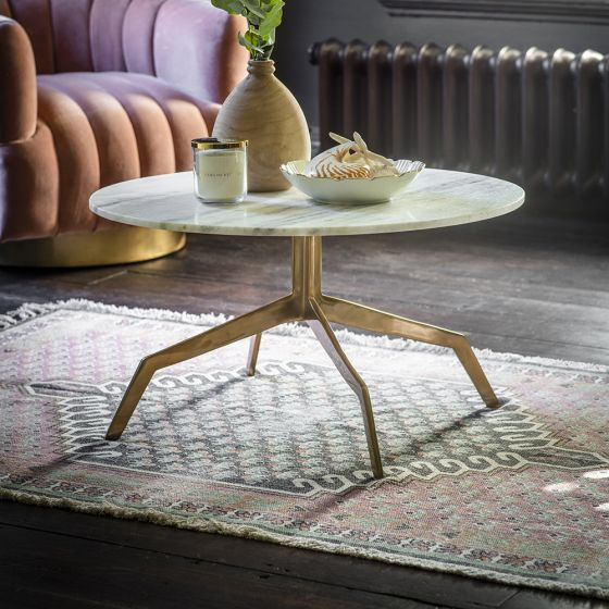 Zenith Coffee Table in White Marble