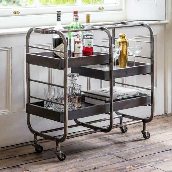 Bistro Bar Trolley - Grey