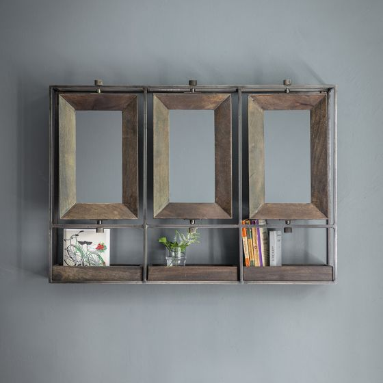 Troika Triple Mirror - Grey