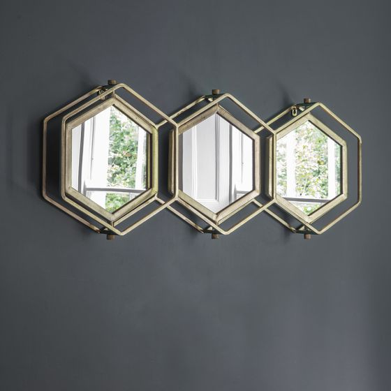 Triple Hex Mirror