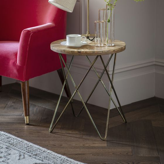 Herringbone Side Table