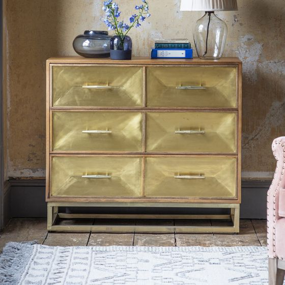 Pascali Brass Chest of Drawers