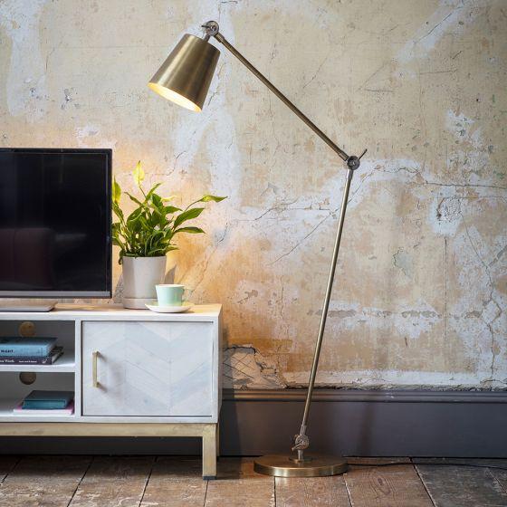 Tobias Floor Light - Antique Brass/Nickel