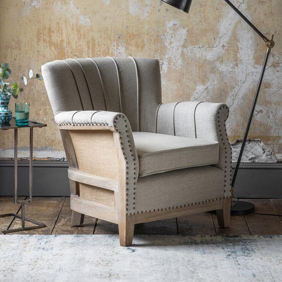 Fitzgerald Armchair in Linen