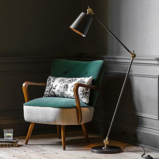 Tobias Floor Light - Bronze/Brass
