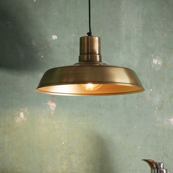 Dixie Pendant Light - Antique Brass